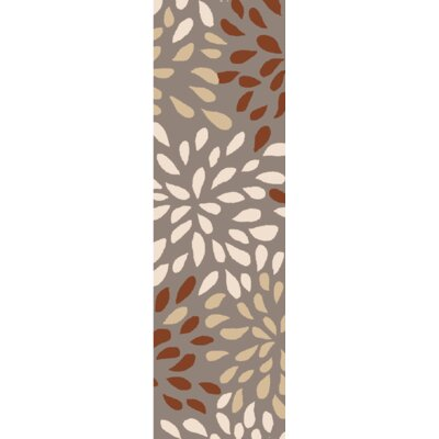 Carrie Hand-Tufted Rust/Lime Area Rug Rug Size: Runner 26 x 8