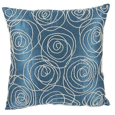 Creekmore Silk Throw Pillow (Set of 2) Color: Blue/Green