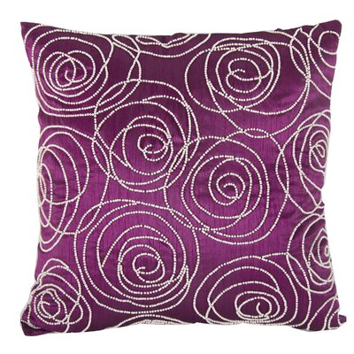 Creekmore Silk Throw Pillow (Set of 2) Color: Fuchsia