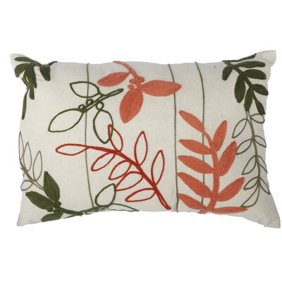 Creeksville Embroidered Cotton Lumbar Pillow