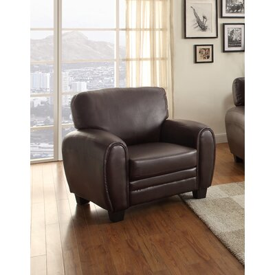 Leith Armchair Color: Dark Brown
