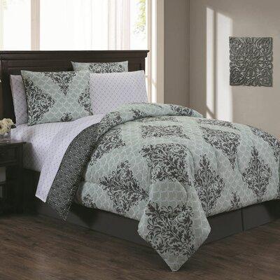 Bridgeville 7 Piece Bed in a Bag Set Size: Queen, Color: Mint