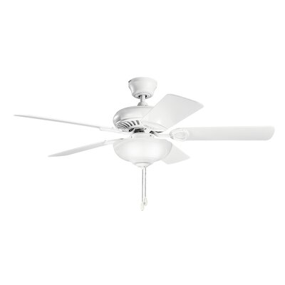 Bowes 52 Select 5-Blade Ceiling Fan Finish: Matte White