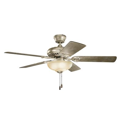 Bowes 52 Select 5-Blade Ceiling Fan Finish: Sterling Gold with Walnut Blades