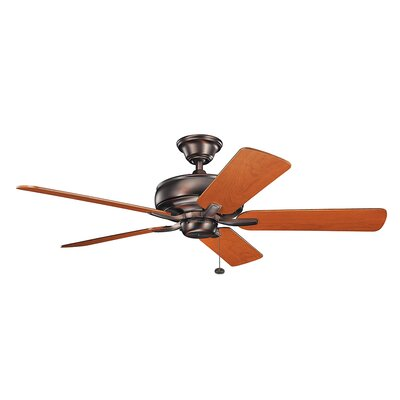 Bonnie 52 5-Blade Ceiling Fan Finish: Oil Brushed Bronze with Walnut Blades