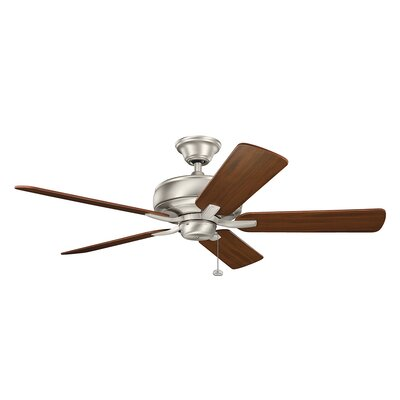 Bonnie 52 5-Blade Ceiling Fan Finish: Brushed Nickel with Silver Blades