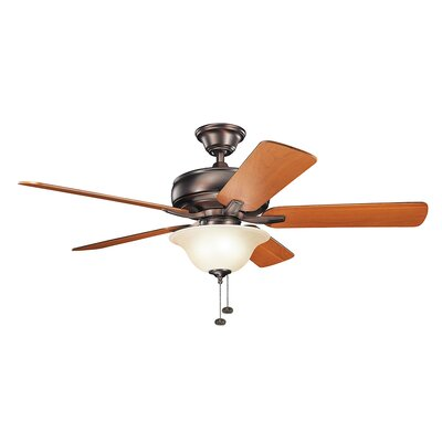 Bonnie 52 5-Blade Select Ceiling Fan Finish: Oil Brushed Bronze with Walnut Blades