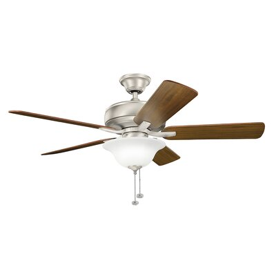 Bonnie 52 5-Blade Select Ceiling Fan Finish: Brushed Nickel with Silver Blades