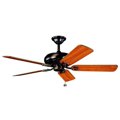 52 Trammell 5-Blade Ceiling Fan Finish: Oil Brushed Bronze with Walnut and Cherry Blades
