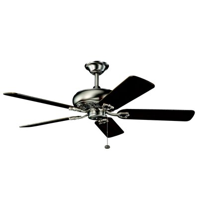 52 Trammell 5-Blade Ceiling Fan Finish: Antique Pewter with Light and Dark Cherry Blades