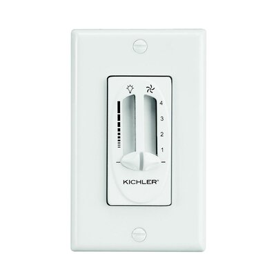 Maglione Fan/Light Dual Slider Wall Control Finish: Ivory
