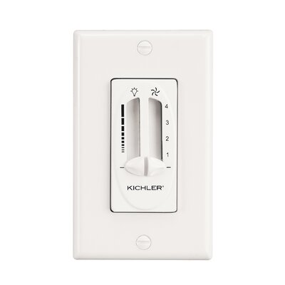 Glenfield Fan/Light Dual Slider Wall Control Finish: White