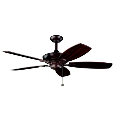 52 Carbondale 5-Blade Ceiling Fan Finish: Tannery Bronze with Cherry/Teak Blades