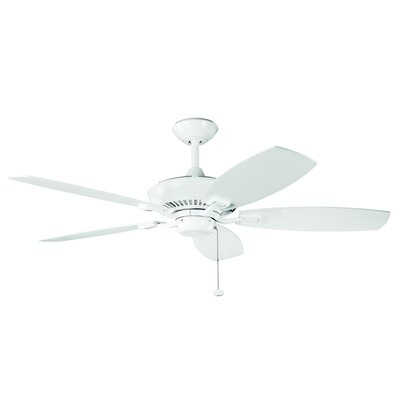 52 Carbondale 5-Blade Ceiling Fan Finish: White Powder Coat with White Blades