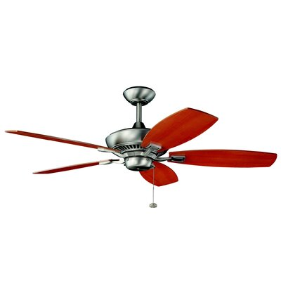 52 Carbondale 5-Blade Ceiling Fan Finish: Brushed Nickel with Cherry/Light Walnut Blades