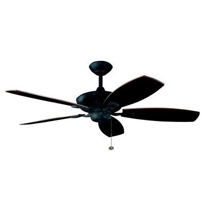 52 Carbondale 5-Blade Ceiling Fan Finish: Distressed Black with Walnut Blades