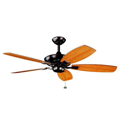 52 Carbondale 5-Blade Ceiling Fan Finish: Oil Brushed Bronze with Cherry/Walnut Blades