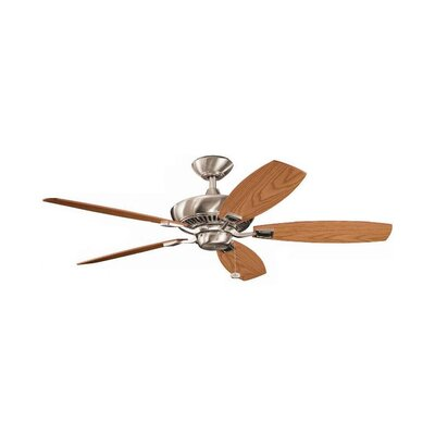 52 Carbondale 5-Blade Ceiling Fan Finish: Brushed Stainless Steel with Light/Med Oak Blades
