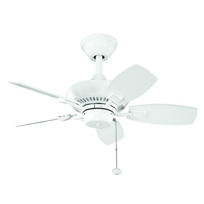30 Princeton 5-Blade Ceiling Fan Finish: White with White Blades