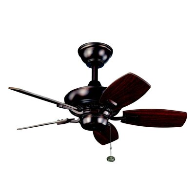 30 Princeton 5-Blade Ceiling Fan Finish: Oil Brushed Bronze with Cherry/Walnut Blades