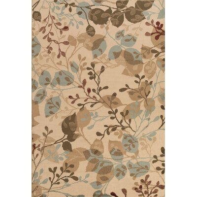 Lonsdale Raw Umber/Beige Area Rug Rug Size: Rectangle 79 x 112