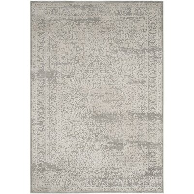 Van Andel Gray/Beige Area Rug Rug Size: Rectangle 4 x 6