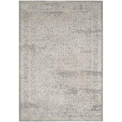 Van Andel Gray/Beige Area Rug Rug Size: 51 x 76