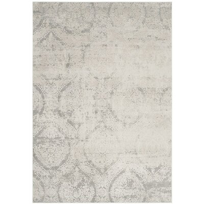 Van Andel Gray/Beige Area Rug Rug Size: Rectangle 8 x 10