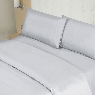 Blackmon Cotton 4 Piece Sheet Set Size: King, Color: Gray