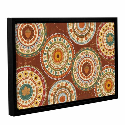 Autumn Song X Dark Framed Painting Print on Wrapped Canvas	 Size: 12