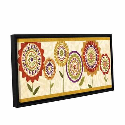 Fall Flowers III Framed Graphic Art on Wrapped Canvas