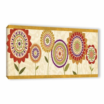 Fall Flowers III Painting Print on Wrapped Canvas
