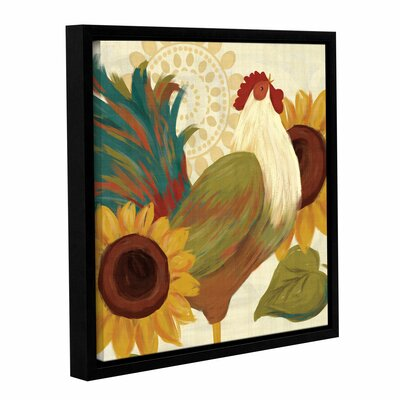 Spice Roosters I Framed Painting Print on Wrapped Canvas