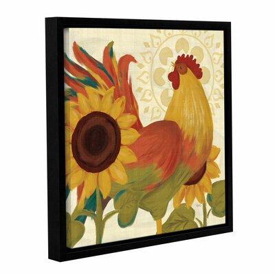 Spice Roosters II Framed Painting Print on Wrapped Canvas Size: 14