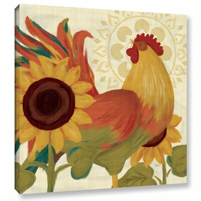 Spice Roosters II Painting Print on Wrapped Canvas Size: 14