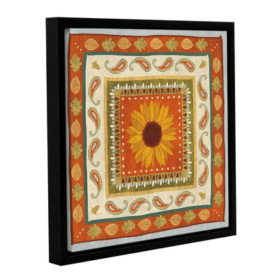 Autumn Song Tiles I Framed Painting Print on Wrapped Canvas