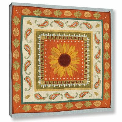 Autumn Song Tiles I Painting Print on Wrapped Canvas Size: 14