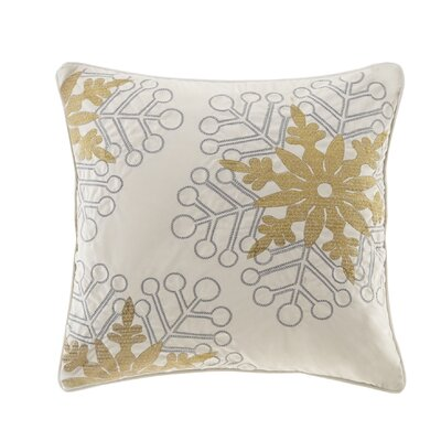 Snowflake Glitz Throw Pillow