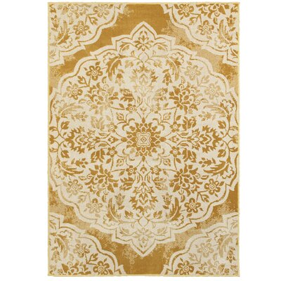 Ravenwood Gold/Beige Area Rug Rug Size: Rectangle 310 x 55
