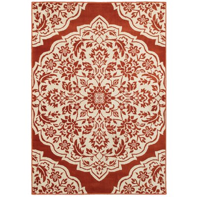 Ravenwood Red/Beige Area Rug Rug Size: Rectangle 53 x 76