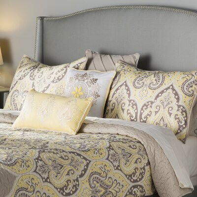 Sebring 6 Piece Quilted Coverlet Set Size: Full/Queen, Color: Yellow