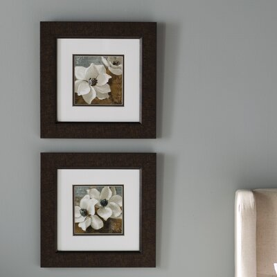 Magnolias I / II Framed 2 Piece Graphic Art Print Set on Paper