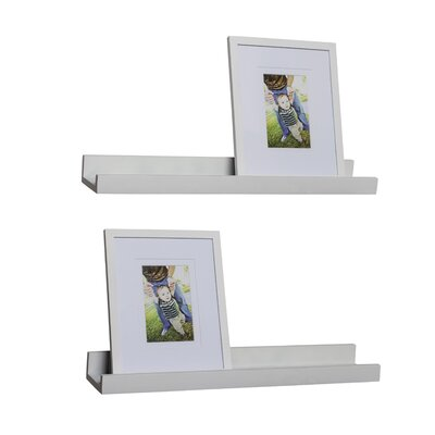 4 Piece Ledge Floating Shelf & Picture Frame Set