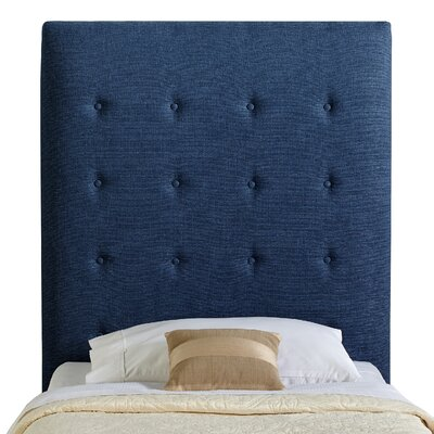Dublin Twin Upholstered Panel Headboard Upholstery: Ocean Blue