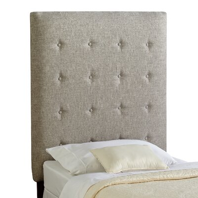 Dublin Twin Upholstered Panel Headboard Upholstery: Grey