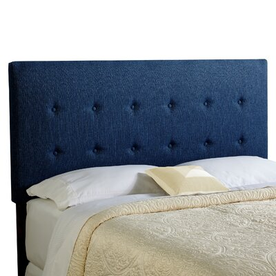 Dublin Upholstered Panel Headboard Size: King, Upholstery: Navy Blue