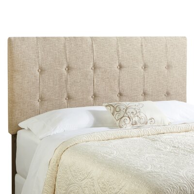 Dublin Upholstered Panel Headboard Size: King, Upholstery: Beige