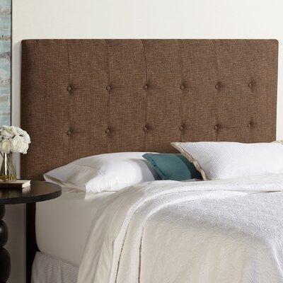 Dublin Upholstered Panel Headboard Size: King, Upholstery: Dark Chocolate