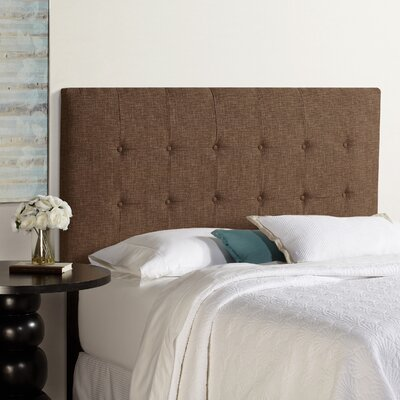 Dublin Upholstered Panel Headboard Size: King, Upholstery: Dark Chocolate