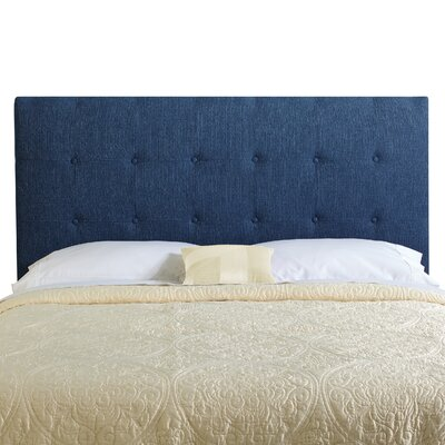 Dublin Upholstered Panel Headboard Size: Queen, Upholstery: Navy Blue